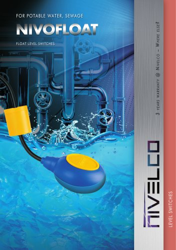 NIVELCO LEVEL SWITCHES - FLOAT FOR POTABLE WATER, SEWAGE - NIVOFLOAT