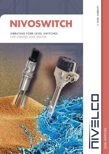 NIVELCO LEVEL SWITCHES - VIBRATION FORK FOR LIQUIDS AND SOLIDS - NIVOSWITCH
