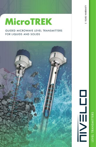 NIVELCO LEVEL TRANSMITTERS - GUIDED MICROWAVE - MicroTREK