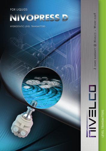 NIVELCO LEVEL TRANSMITTERS - HYDROSTATIC - NIVOPRESS D
