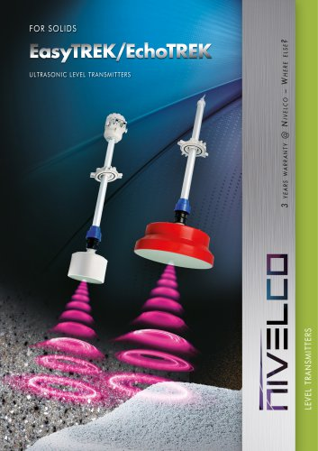 NIVELCO LEVEL TRANSMITTERS - ULTRASONIC INTEGRATED AND COMPACT FOR SOLIDS - EasyTREK and EchoTREK