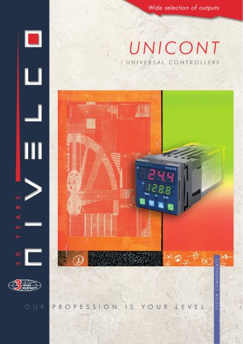 NIVELCO SIGNAL PROCESSING UNITS - UNIVERSAL PROCESS CONTROLLERS / INDICATORS - UNICONT PM