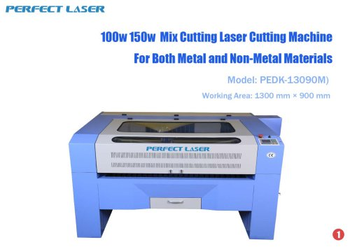 100w 150w Mix Cutting Laser Cutting Machine for Both Metal and Non-Metal Materials