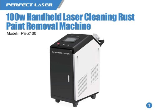 100w Handheld Laser Cleaning Rust Paint Removal Machine