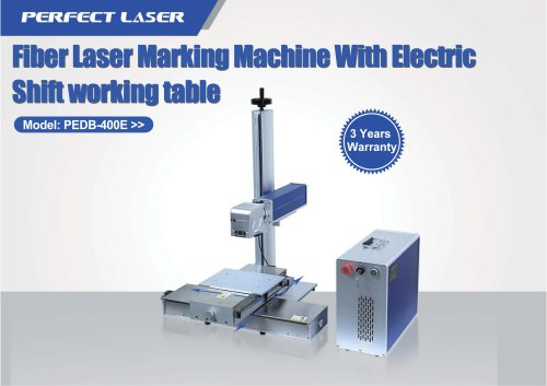 Fiber Laser Marking Machine With Electric Shift working table