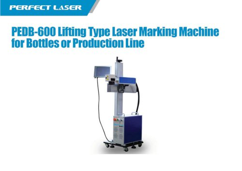 PEDB-600 Lifting Type Laser Marking Machine for Bottles or Production line