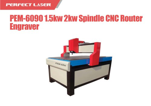 Perfect Laser - 1.5kw 2kw Spindle CNC Router Engraver  PEM-6090