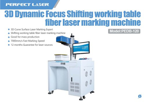 Perfect Laser - 3D Dynamic Shifting Table Fiber Laser Marking Machine PEDB-120