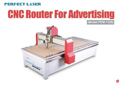 Perfect Laser - CNC Router For Advertising PEM-1325