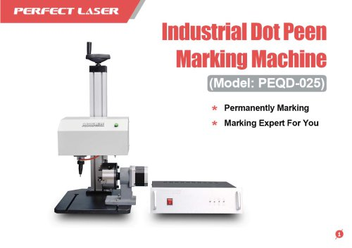 Perfect Laser - Industrial Dot Peen Marking Machine For Flat And Rotary PEQD-025