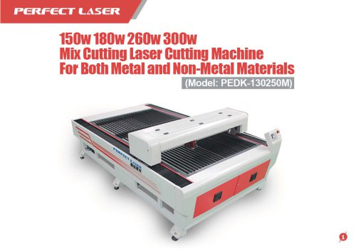 Perfect Laser - Mix Laser Cutting Machine For Both Metal and Non-metal Materials PEDK-130250M