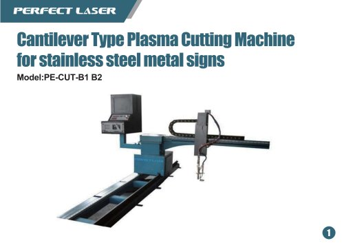 Perfect Laser Plasma laser cutter Cantilever Type PE-CUT-B1 B2