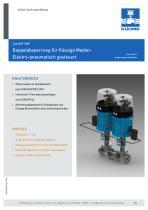 Doppelabsperrung für flüssige Medien - Typ KVF-KVF (DIN)