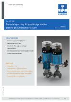 Doppelabsperrung für gasförmige Medien - Typ KVF-KVF (DIN)