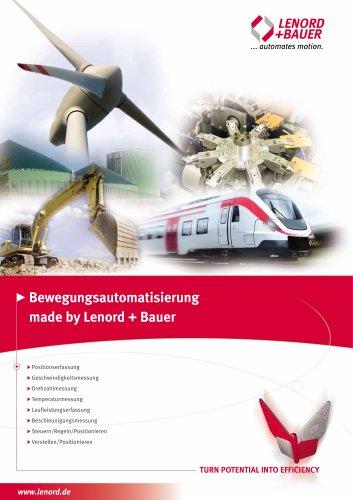 Bewegungsautomatisierung made by Lenord + Bauer