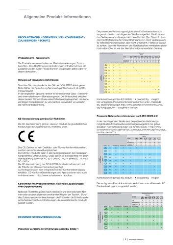 Allgemeine Produktinformationen - Signal-Stecker