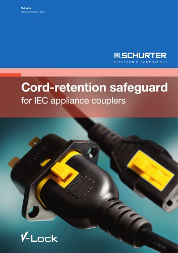 Cord-retention safeguard for IEC appliance couplers