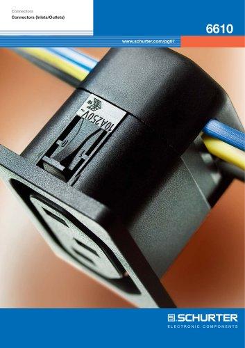 Flyer SCHURTER 6610 – Appliance outlet with IDC terminals