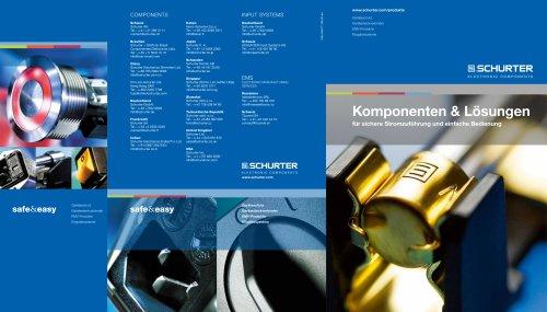 Komponenten & Lösungen für sichere Stromzuführung und einfache Bedienung