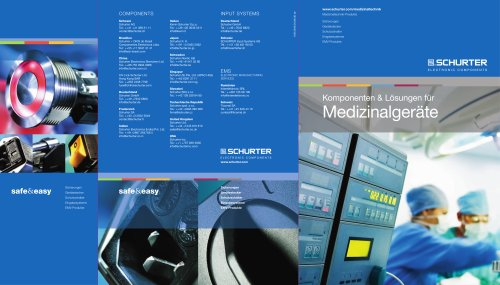Koponenten & Lösungen für Medizinalgeräte