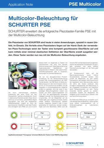 Multicolor-Beleuchtung für SCHURTER PSE