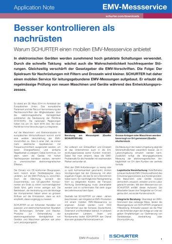 SCHURTER Application Note: EMV-Messservice