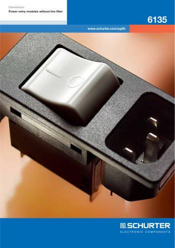 SCHURTER Flyer - Power entry module 6135 with circuit breaker