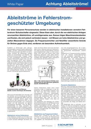 SCHURTER White Paper: Ableitströme in Fehlerstromgeschützter Umgebung
