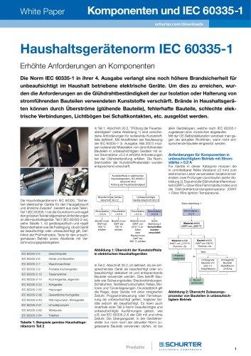 SCHURTER White Paper: Komponenten und IEC 60335-1