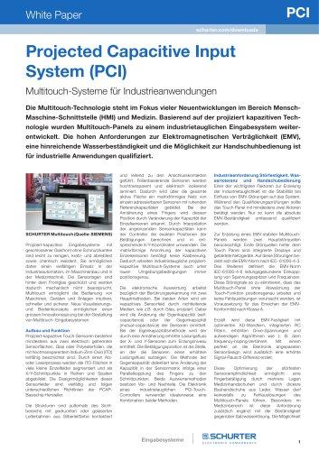 SCHURTER White Paper: Multitouch-Systeme für Industrieanwendungen