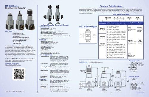 NR-4000 Series Non-Relieving Regulator