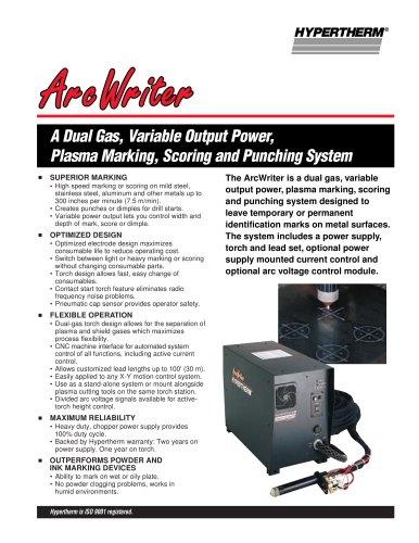 ArcWriter System Brochure