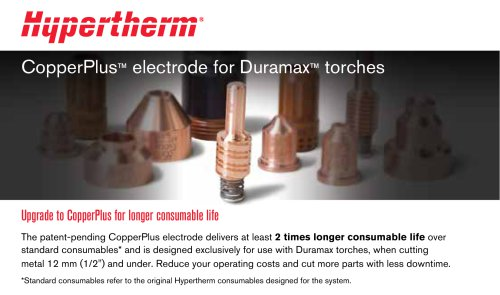 CopperPlus electrode for Duramax torches