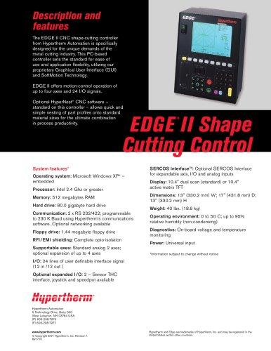 EDGEII Product Brochure
