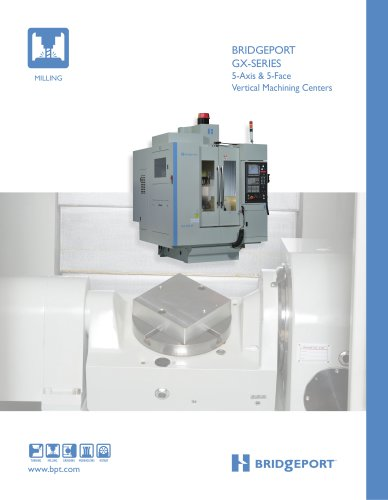 GX-SERIES 5-Axis & 5-Face Vertical Machining Centers
