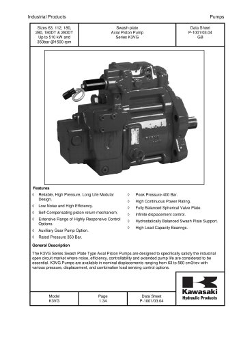 Axial Piston Pump Series K3VG
