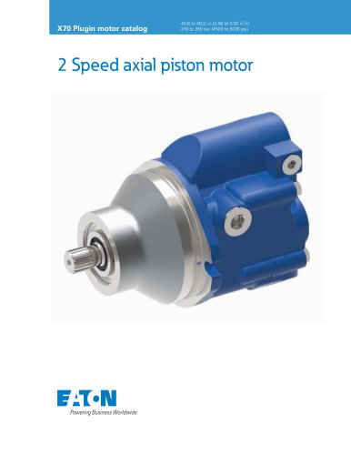 2 Speed axial piston motor
