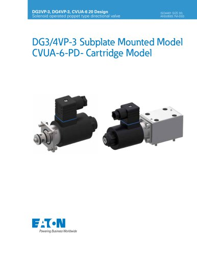 DG3/4VP-3 Subplate Mounted Model CVUA-6-PD- Cartridge Model