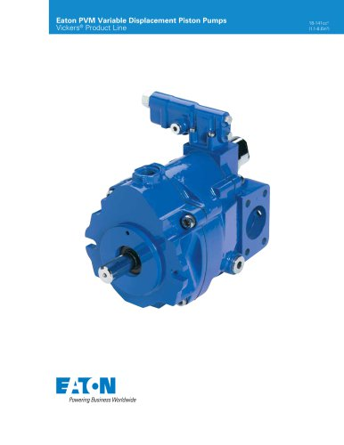 PVM Industrial Variable Displacement Piston Pumps