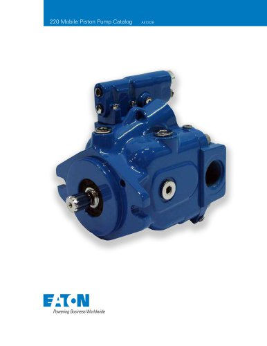 X20 Series 220 - Pump Catalog