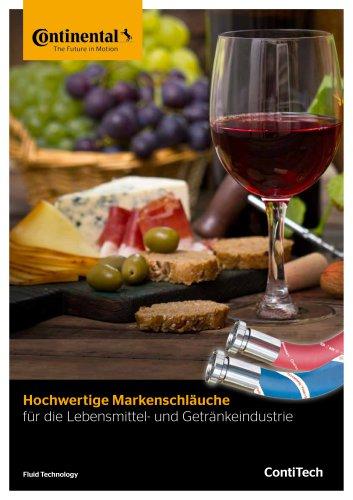 Broschüre Hochwertige Markenschläuche für die Lebensmittel- und Getränkeindustrie