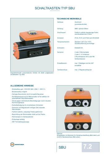 Datenblatt Schaltkasten EBRO