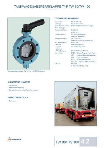 Datenblatt TW80-TW100 Absperrklappe EBRO