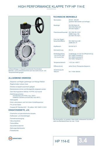 HIGH PERFORMANCE KLAPPE TYP HP 114-E
