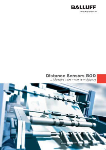 Distance Sensors BOD Edition 06/09