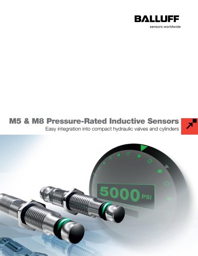M5 and M8 Pressure-Rated Inductive Sensors
