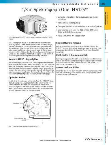 1/8 m Spektrograph Oriel MS125™