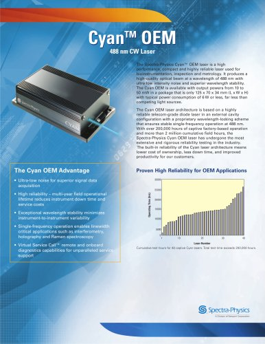 488 nm CW Laser- Cyan™ OEM