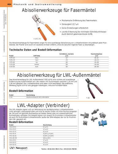 Abisolierwerkzeuge für Fasermäntel
