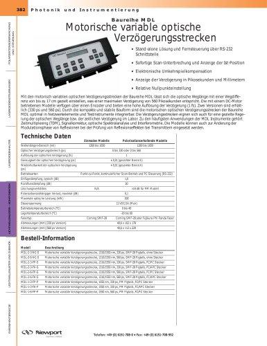 Baureihe MDL Motorische variable optische  Verzögerungsstrecken